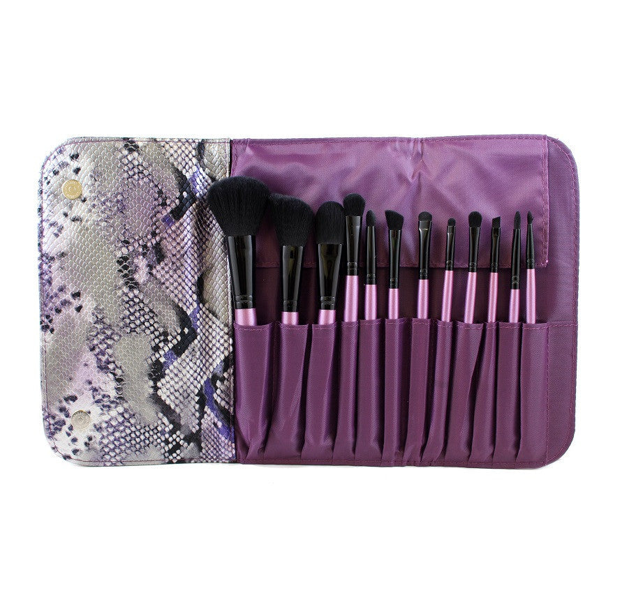 Morphe - 12 Piece Purple Snakeskin Brush Set