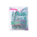 Beauty Creations - Teal Liquid Sparkle 7pc Brush Set