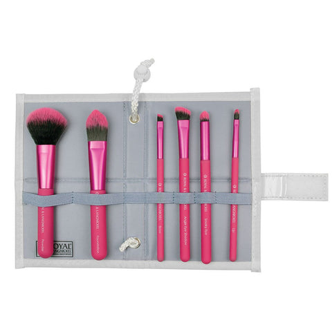 Moda - Total Face 7pc Pink Brush Kit