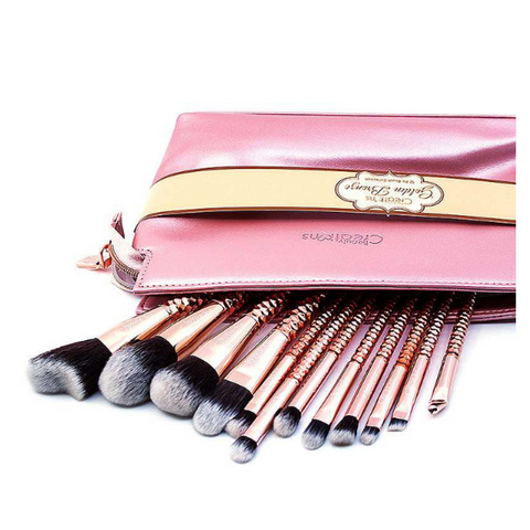 Beauty Creations - 12pc Golden Bronze Brush Set
