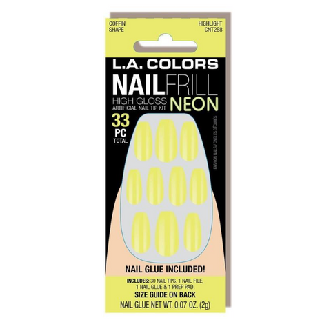 L.A. Colors - Nail Frill Neon Nail Kit Highlight