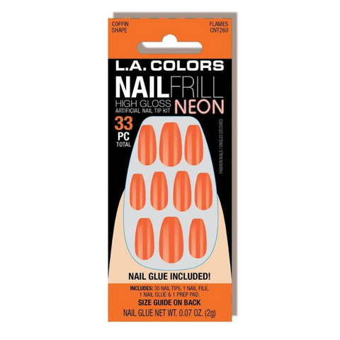 L.A. Colors - Nail Frill Neon Nail Kit Flames