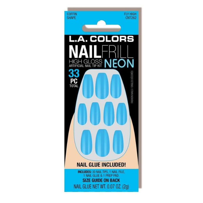 L.A. Colors - Nail Frill Neon Nail Kit Fly High
