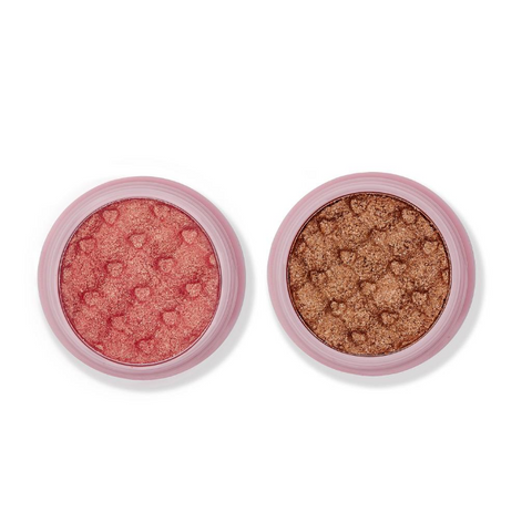 Ace Beaute - Soft Glimmer Shadows Duo Set Cotton Candy & Iced Latte
