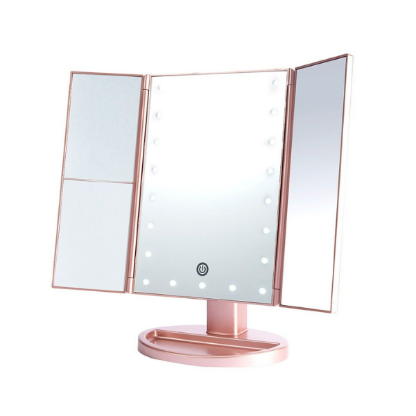 Lurella Cosmetics - LED Mirror Rose Gold