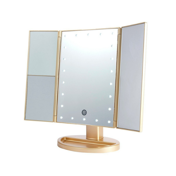 Lurella Cosmetics - LED Mirror Gold