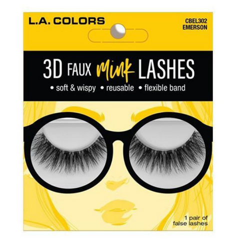 L.A. Colors - 3D Faux Mink Lashes Emerson