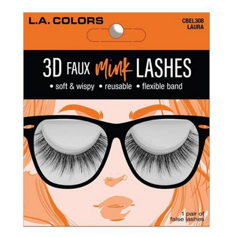 L.A. Colors - 3D Faux Mink Lashes Laura