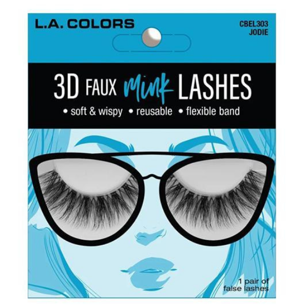L.A. Colors - 3D Faux Mink Lashes Jodie