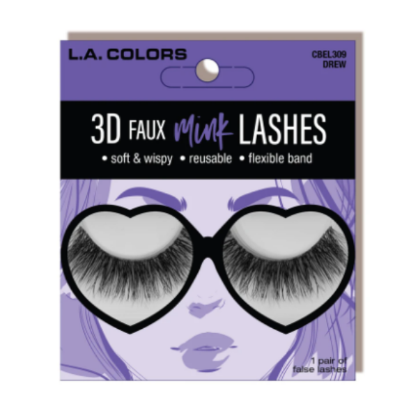 L.A. Colors - 3D Faux Mink Lashes Drew