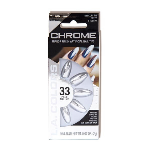 L.A. Colors - Chrome Nail Tips Mercury Tin