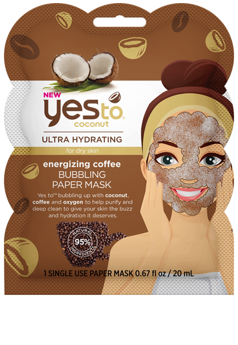 Yes To - Coconut Energizing Coffee Bubbling Paper Mask