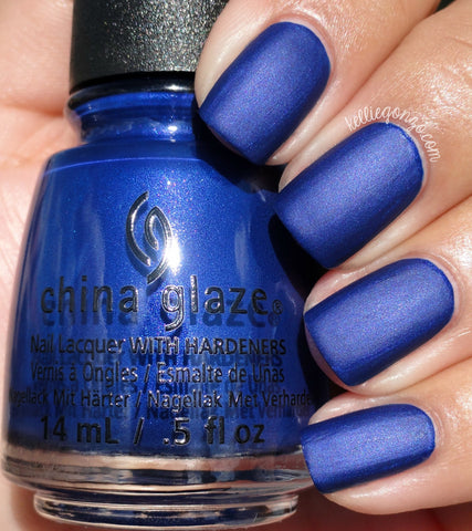 China Glaze 2016 Rebel 'Combat Blue-ts'