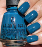 China Glaze 2016 Rebel 'Jagged Little Teal'