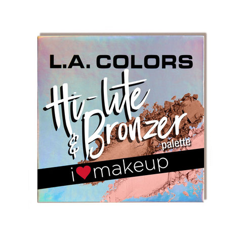 L.A. Colors - Beauty Booklet Hi-Lite & Bronzer Palette Luminous