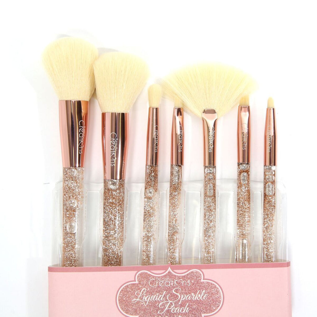 Beauty Creations - Peach Liquid Sparkle 7pc Brush Set