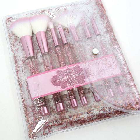 Beauty Creations - Rose Liquid Sparkle 7pc Brush Set