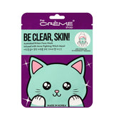 The Creme Shop - Be Clear, Skin! Animated Kitten Face Mask - Acne Fighting Witch Hazel