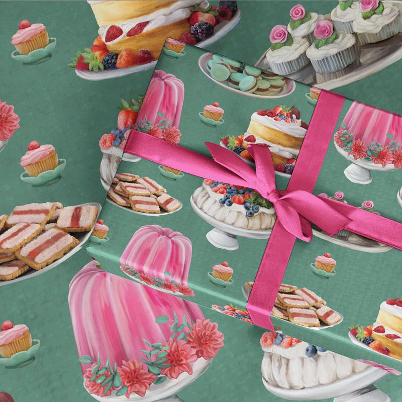 Australian Design Giftwrap - Lavish Tea Party - Popcorn Street