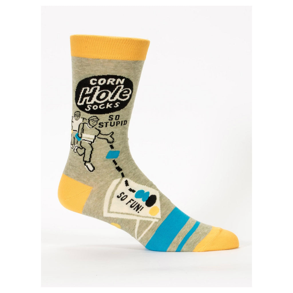Mens Socks: Corn Hole - Popcorn Street