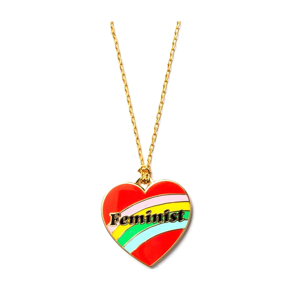 Feminist Heart Necklace - Popcorn Street