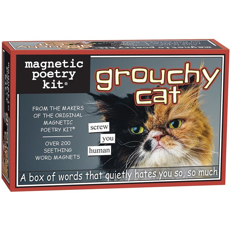 Magnetic Poetry - Grouchy Cat