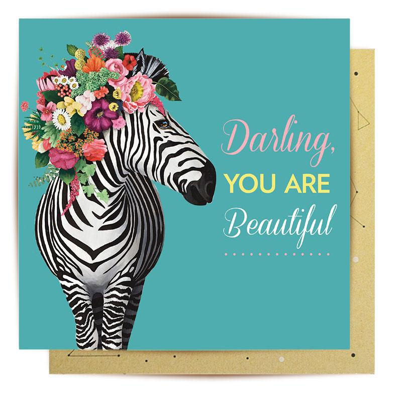 Lalaland Card - Beautiful Zebra - Popcorn Street