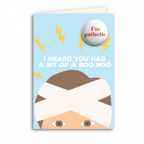Quirky Card & Badge: I Heard You Had a Bit of a Boo Boo - Popcorn Street