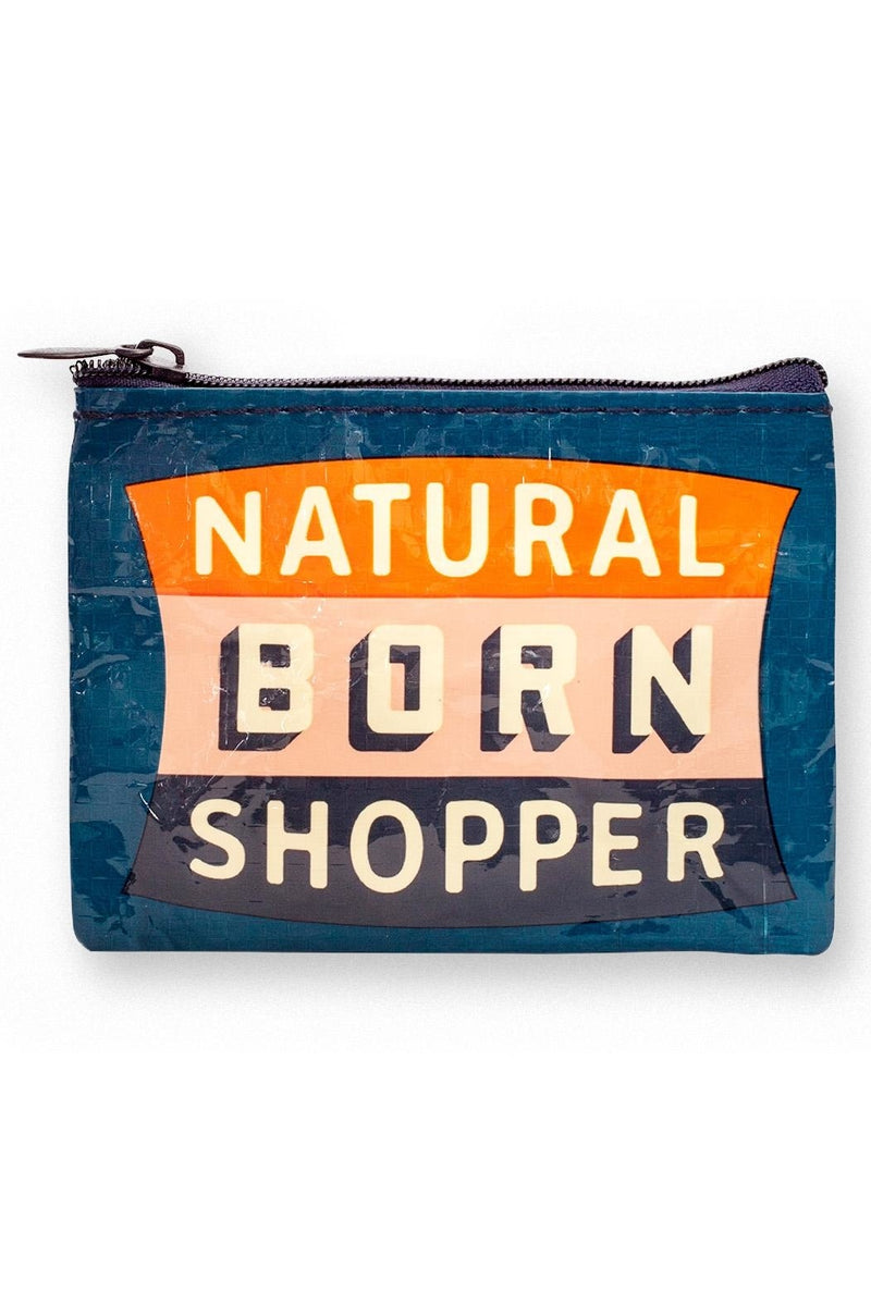 Coin Purse: Natural Born Shopper - Popcorn Street