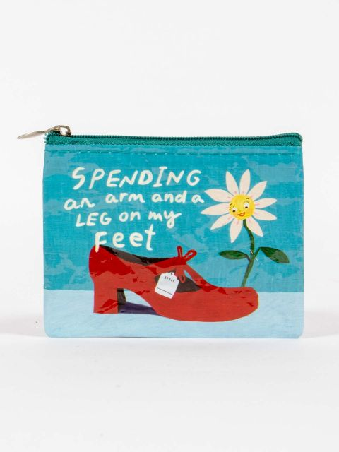 Quirky Coin Purse - Spending An Arm On My Feet
