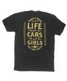 theres more to life than cars and girls mens tshirt black