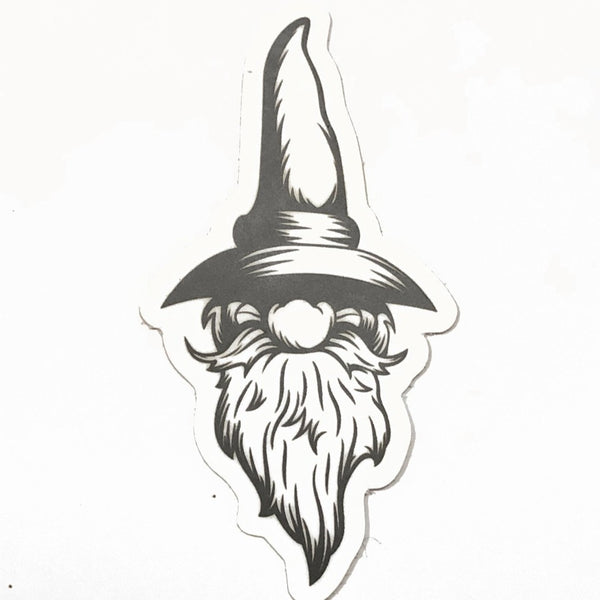Floating Gnome Head sticker