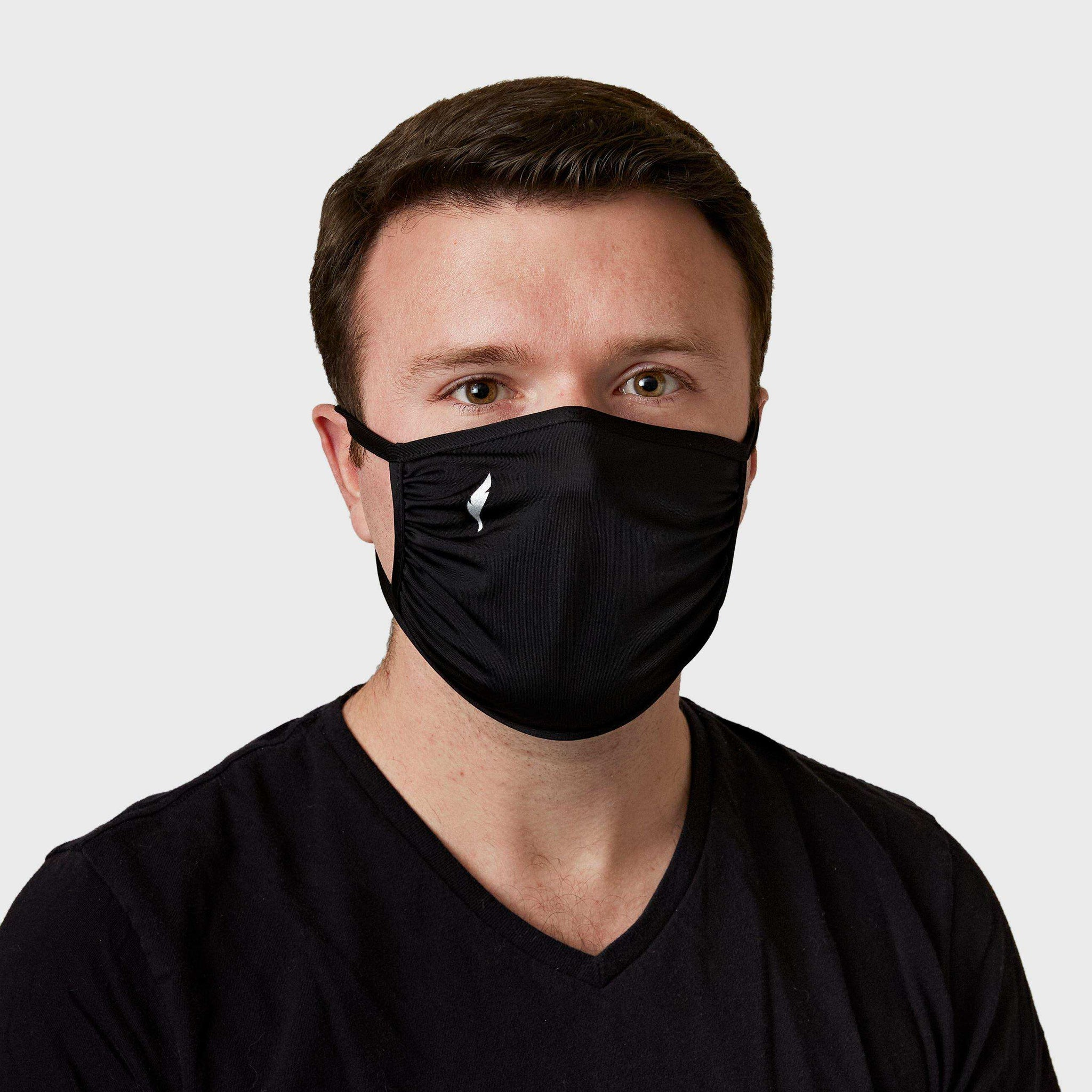 BLACK FACE MASK (DOUBLE PLY)