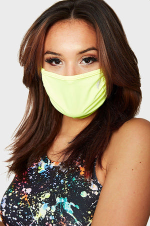NEON YELLOW FACE MASK