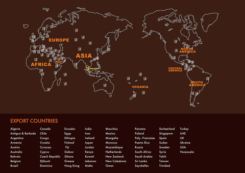 SJY Worldwide Outdoor Countries Exported to