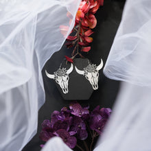 Load image into Gallery viewer, Kyla Flower Skull Earrings