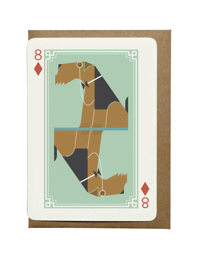 8 of Diamonds A6 Greeting Card