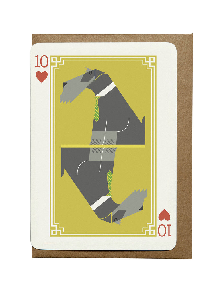 10 of Hearts A6 Greeting Card