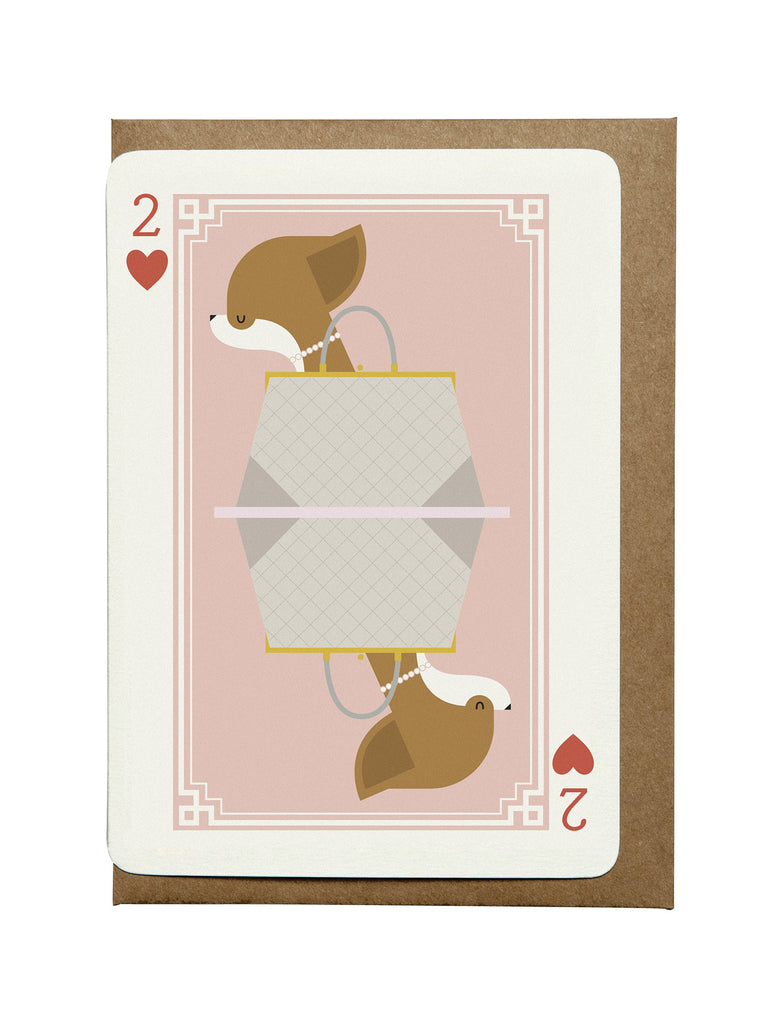 2 of Hearts A6 Greeting Card