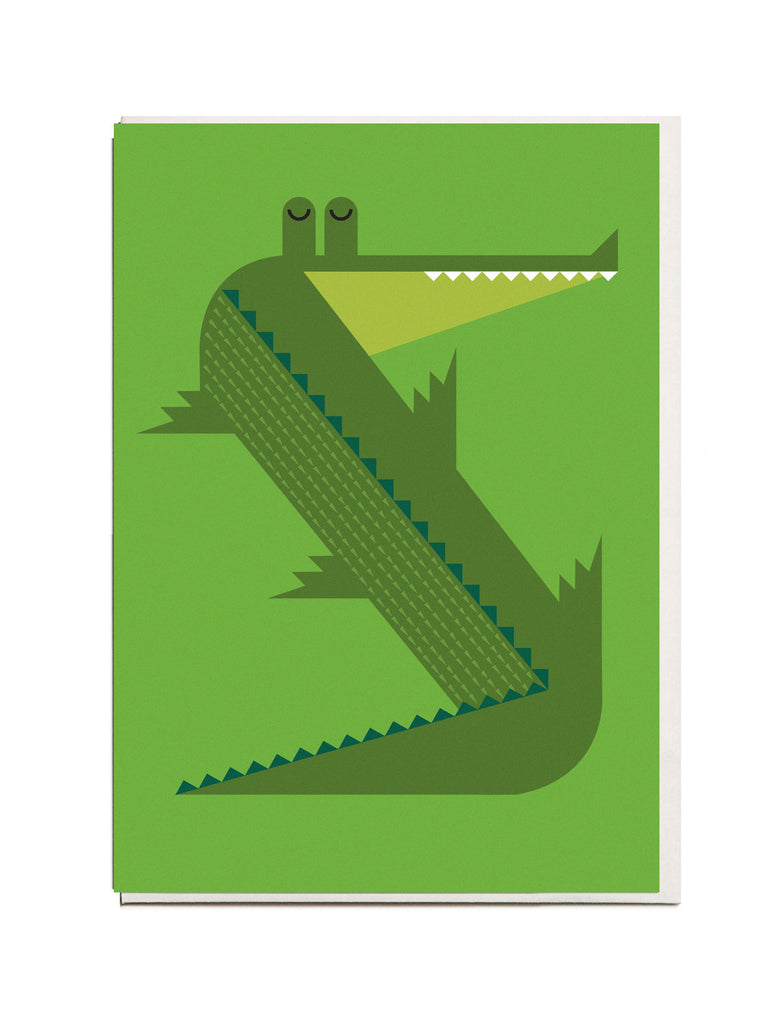 NEW! Crocodile A6 Greeting Card