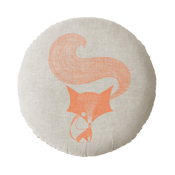 Fox Round Cushion