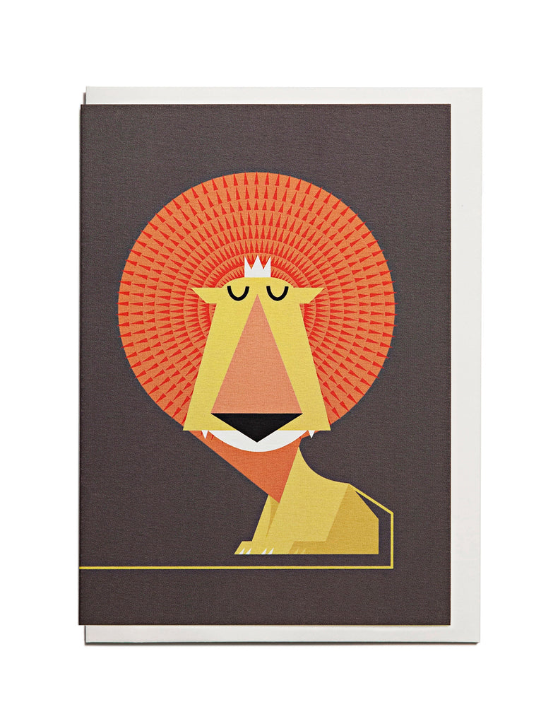 Lion A6 Greeting Card