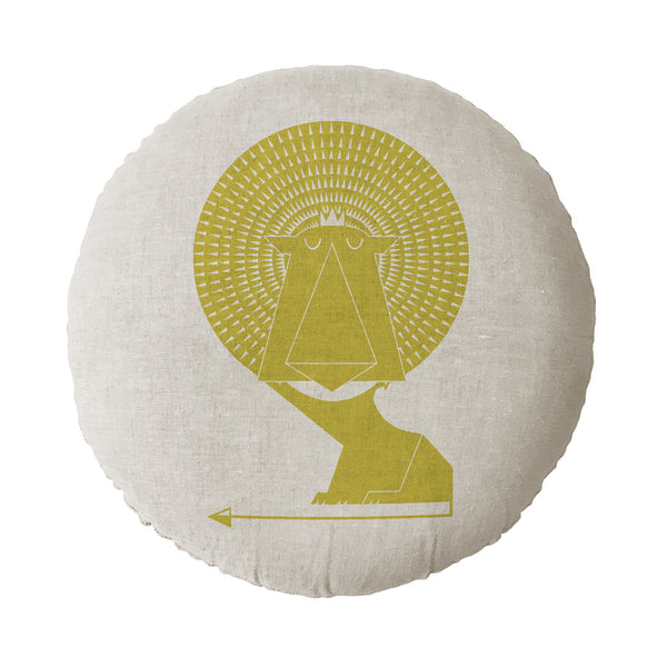 Lion Round Cushion