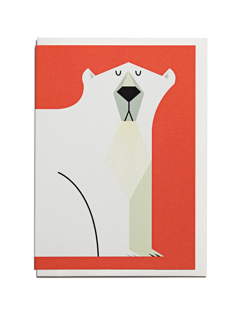 Polar Bear A6 Greeting Card