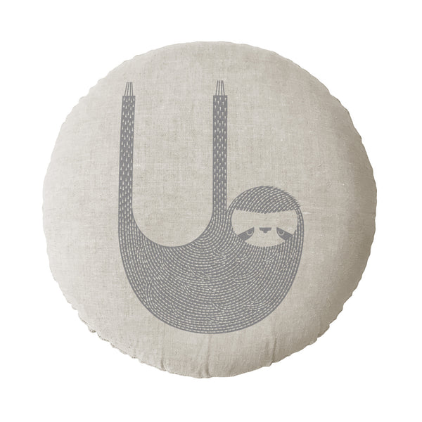 Sloth Round Cushion