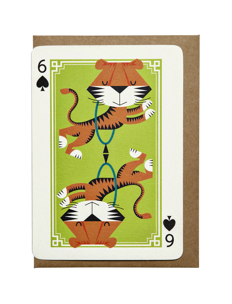 6 of Spades A6 Greeting Card