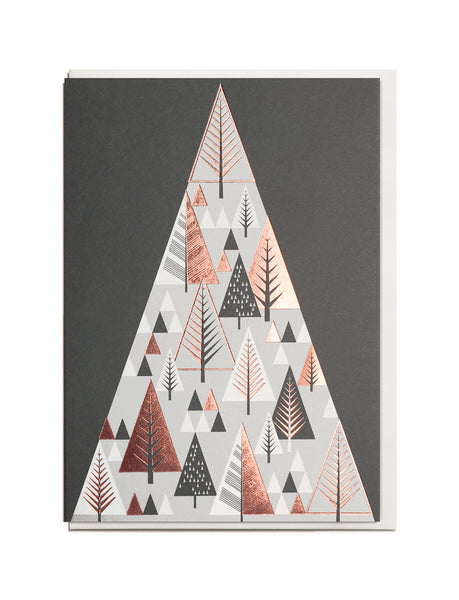 Foil Christmas Mountain A6 Greeting Card