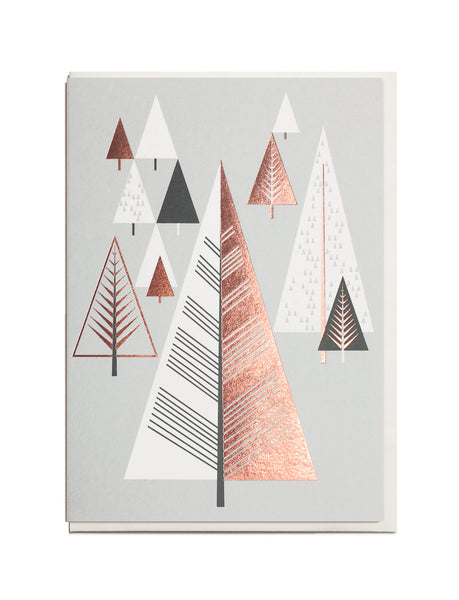 Foil Christmas Tree A6 Greeting Card