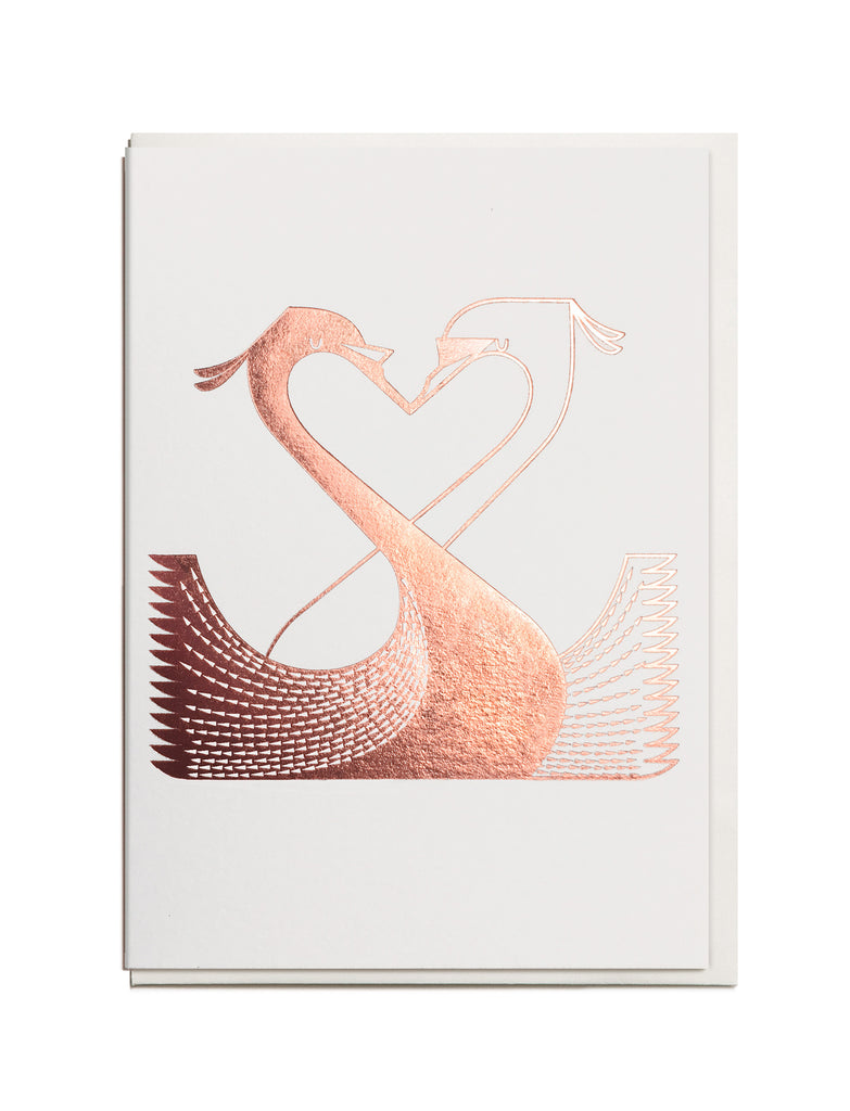 Foil Swan A6 Greeting Card