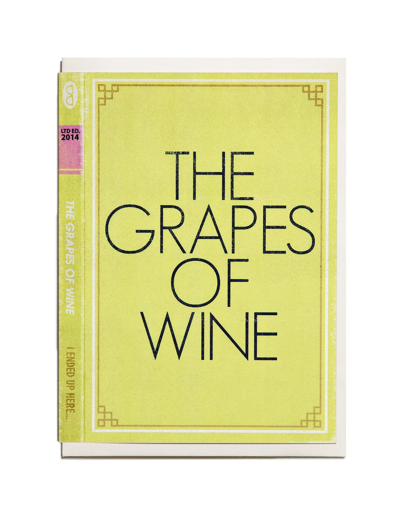 The Grapes of Wine A6 Greeting Card